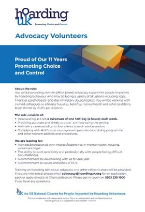 Advocacy Volunteers Info
