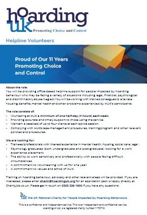 Helpline Volunteers info